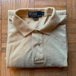 Men's Polo by Ralph Lauren, Beige Polo Shirt, M